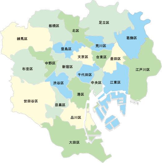 東京都の地名一覧|23区26市1郡5町8村をまとめま …